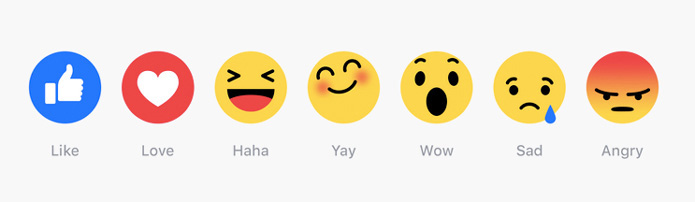 six emoji reactions