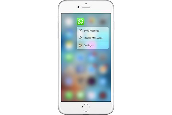 Whatsapp 3D touch