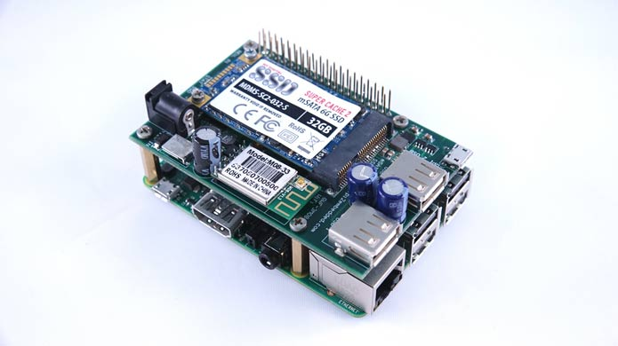 Solid State Drive Shield for Raspberry Pi 2 -CSB502SSD