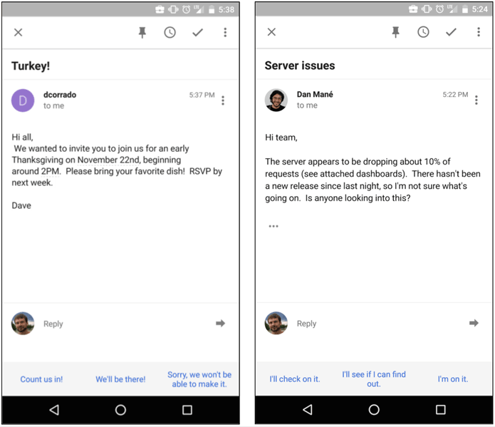 Gmail Smart Reply -techcresendo