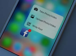 3D Touch Peek and Pop iOS User can view Facebook timeline in 3D