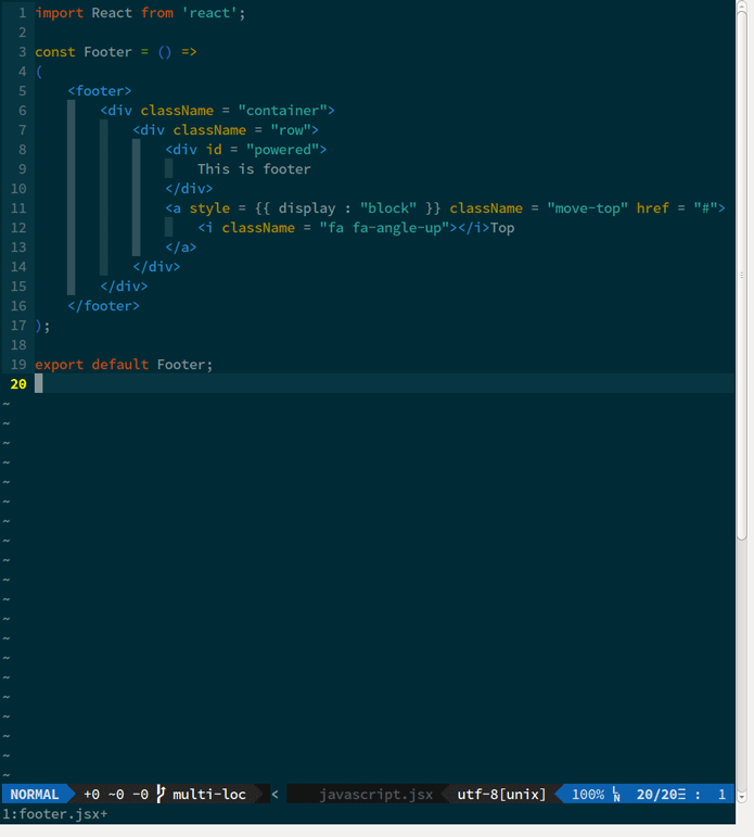 How to enable syntax highlighting, eslinting, auto completions in vim for react development?