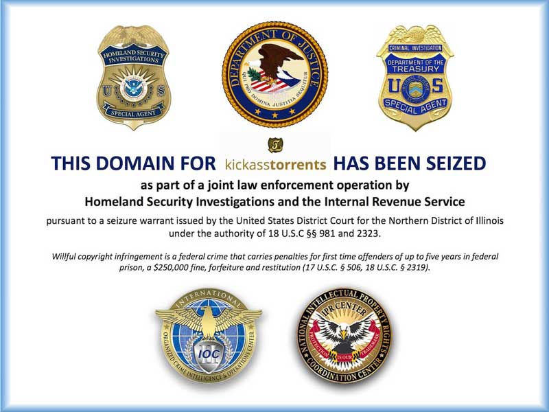 Kickass Torrents has been taken down by the US government ...
