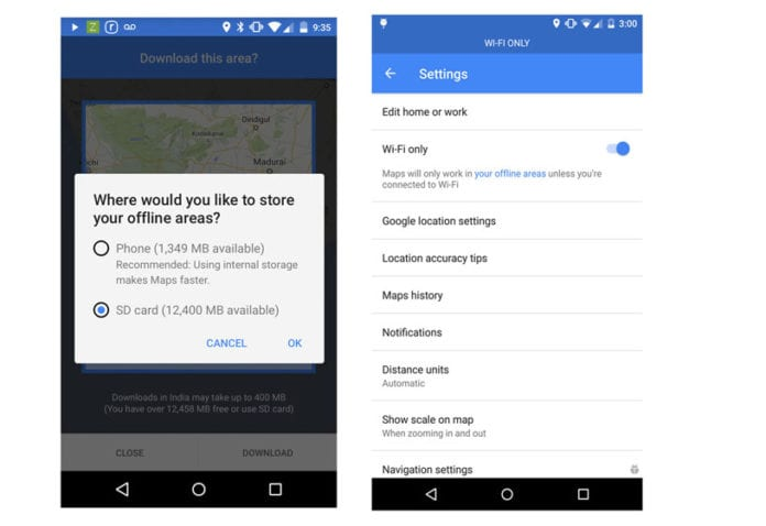 Google Maps for Android Gets New Offline Features in India – Get SD Card Support