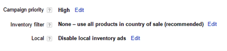 Google Adwords Shopping - Campaign Priority
