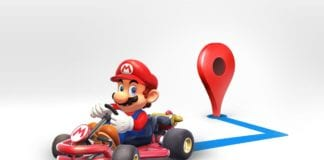 Google Maps Arrow Replaces by Mario Kart To Its navigation