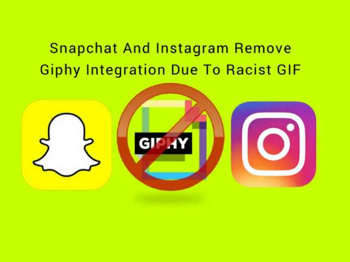 Snapchat And Instagram Remove Giphy Integration Due To Racist GIF
