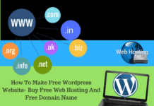 How To Make Free Wordpress Website- Buy Free Web Hosting And Free Domain Name