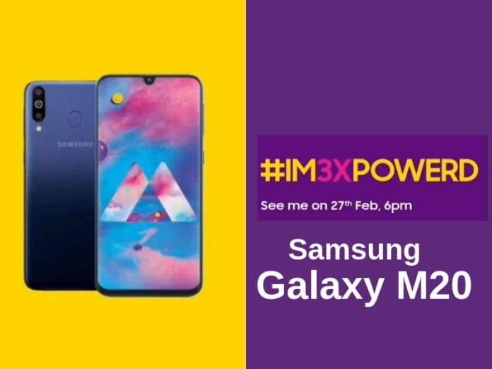 Samsung Galaxy M30: Confirmed India launch on February 27