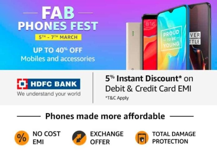 Amazon Fab Phone Fest: Get the best-discounted deals on Smartphones from 5th to 7th March